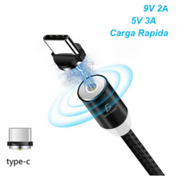 Cable Imán Usb Tipo C TYPE-C Tipo Android Carga Rápida